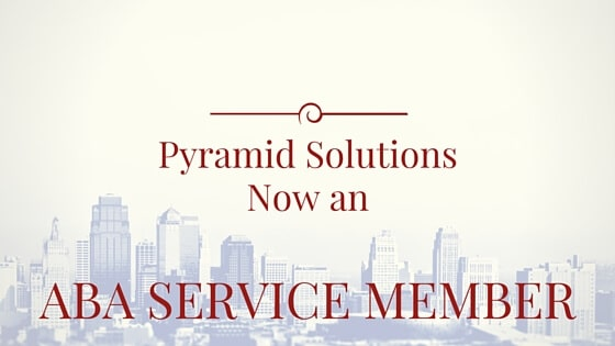 Pyramid Solutions Now an ABA Service Member