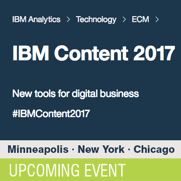 IBM ECM CONTENT 2017 Roadshows