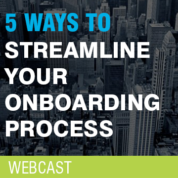 Streamline client onboarding software webcast