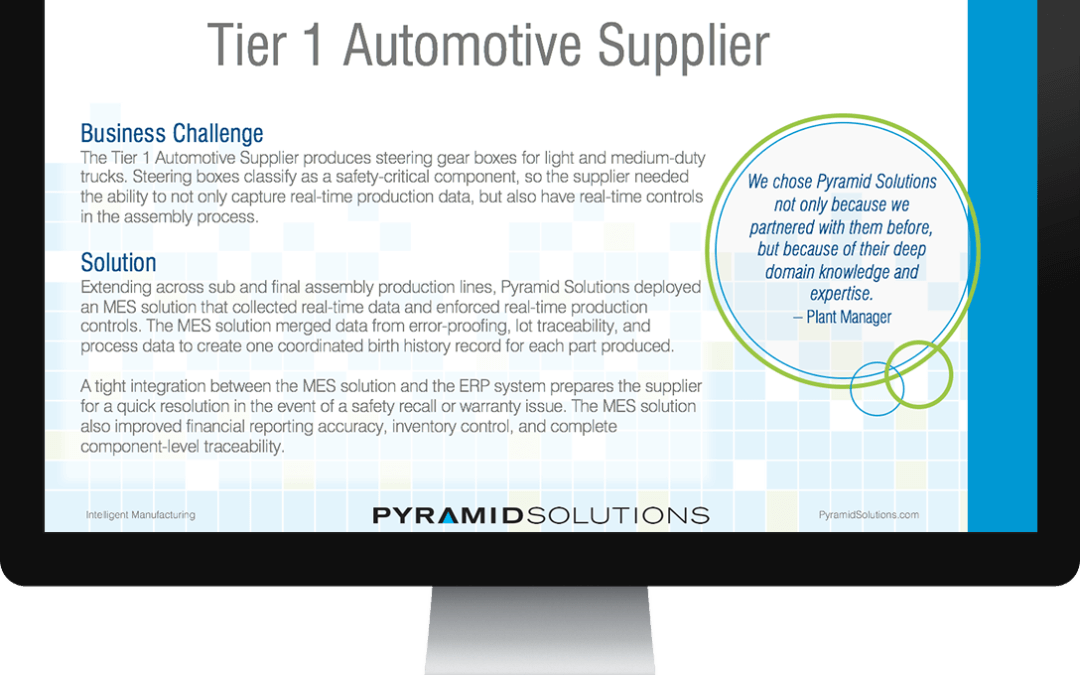 New MES Yields Detailed Birth Records for Safety-Critical Parts at Tier 1 Automotive Supplier