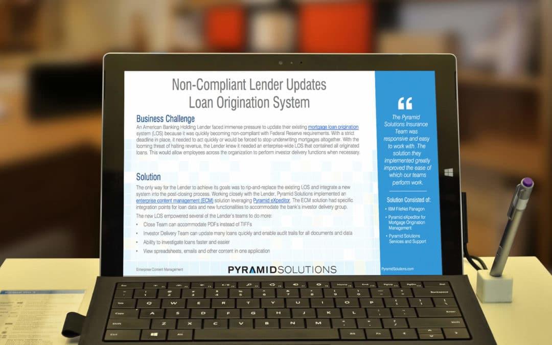 Non-Compliant Lender Updates Loan Origination System