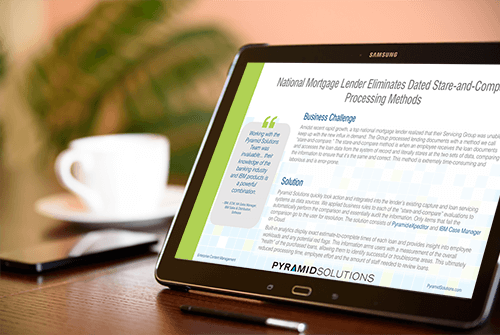 Mortgage Lender Eliminates Stare-and-Compare Processing from Servicing Group