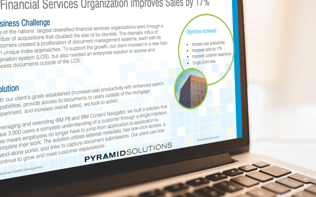 Financial Services Organization Improves Sales by 17%
