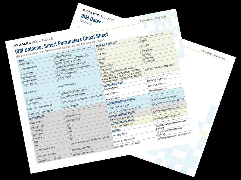 IBM Datacap Cheat Sheet