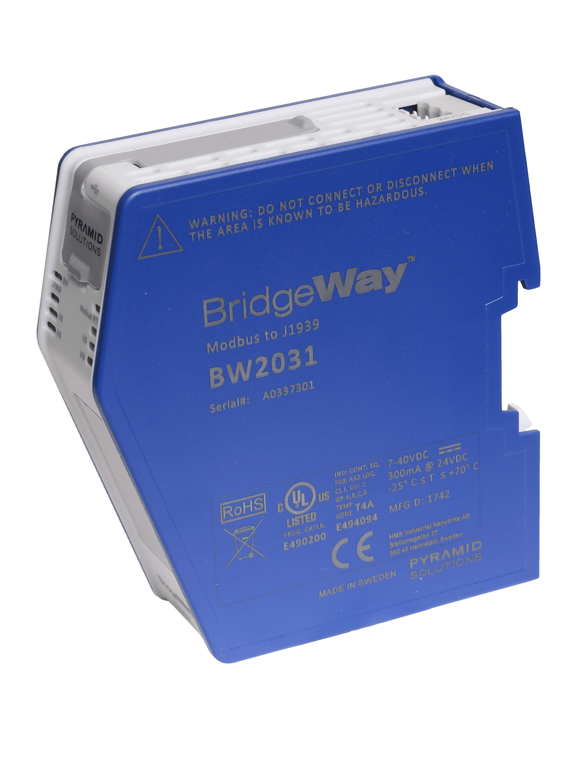 J1939 Gateway to Modbus Interface