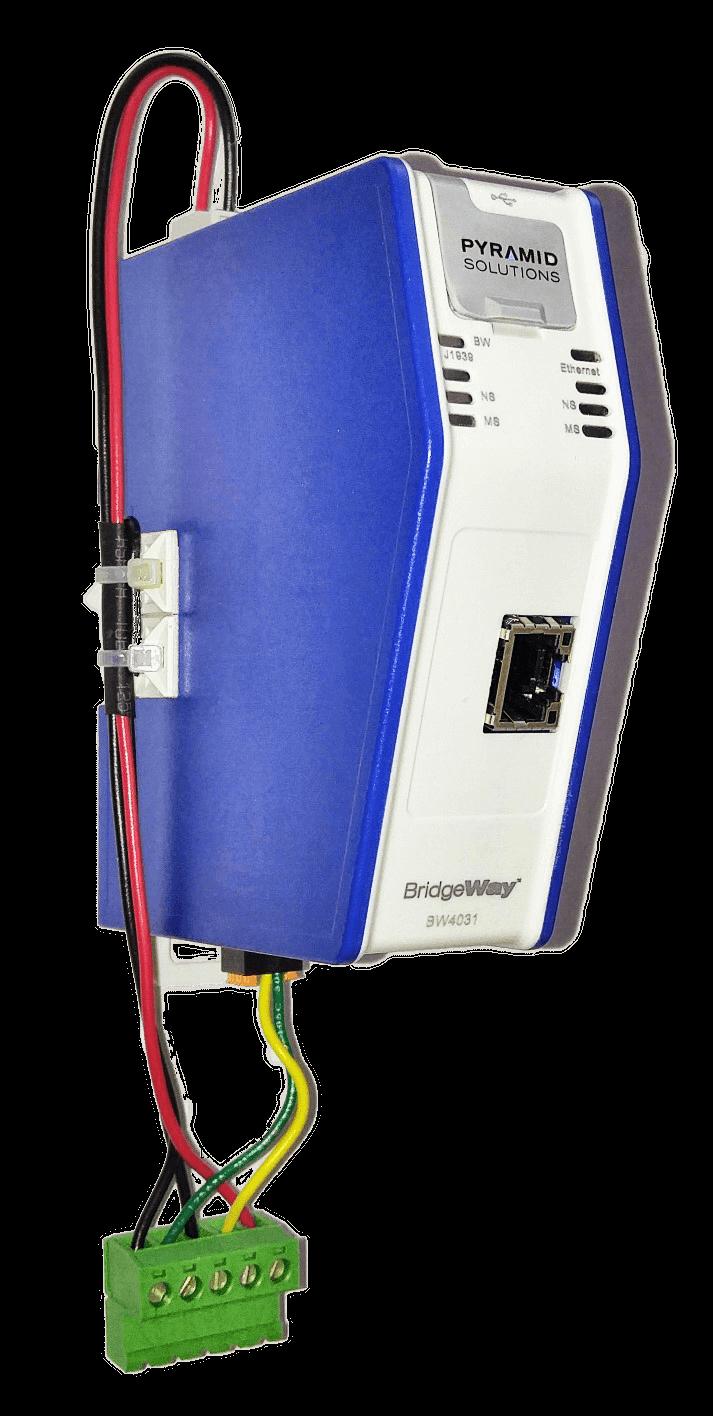 BridgeWay J1939 to Ethernet gateway