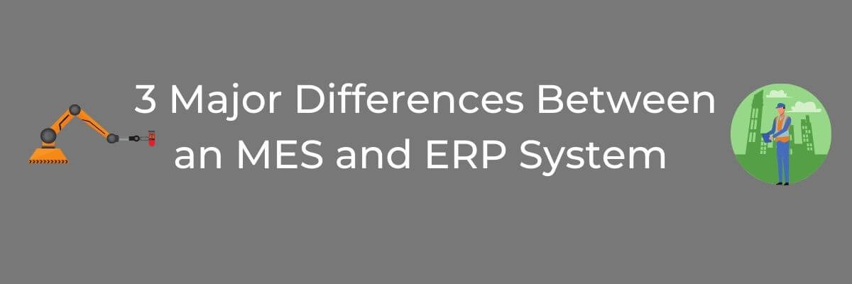 differences between mes and erp graphic